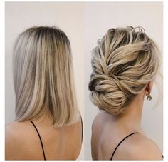 Down Hairstyles, Straight Hairstyles, Prom Hairstyles For Short Hair, Updos For Thin Hair, Short Wedding Hair Updo, Casual Updos For Medium Hair, Prom Hair Updo, Bridesmaid Hair Updo Elegant, Upstyles For Short Hair
