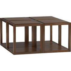 I like - can have  together as coffee table, or stacked or as end tables