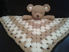 Crochet PATTERN Teddy Bear Security Blanket, lovey, Blankie by PeachUnicornCrochet, £1.99