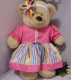 Build-a-Bear Embroidered Muslin Dress 3 Piece Set by RitasClosetForDolls on Etsy