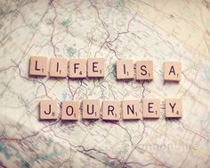 Life travel photography / journey, map, wanderlust, adventure, scrabble tiles…