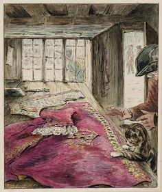 Helen Beatrix Potter (1866‑1943) - The Finished Coat (From Illustrations for 'The Tailor of Gloucester'), c.1902 - Ink and watercolour on paper