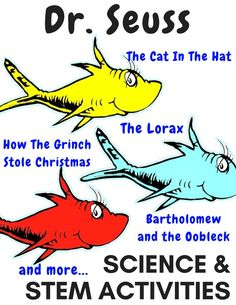 Seuss science activities and STEM projects are perfect for pairing literacy and science. Read Across America is a great time to take our classic Dr. Seuss books and try simple science experiments too.