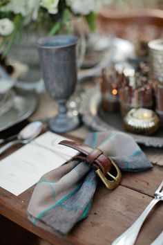 blue and brown decor