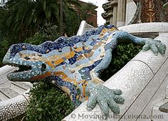 The famous lizard in Park Guell