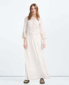 Image 2 of EMBROIDERED FLOWING ROBE from Zara