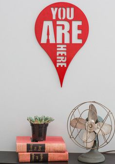 Here and Now Wall Decor, #ModCloth I like this. Sort of snarky and Zen at the same time.