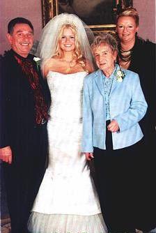 Kerry McFadden on her wedding day to Bryan McFadden