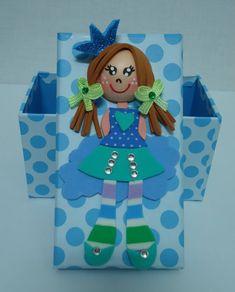 Cajita decorada con goma eva chica