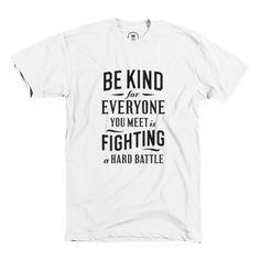 """[TOTD] Be Kind chez Cotton Bureau  On ne se lasse plus des réalisations soumises chez Cotton Bureau, le shop participatif de Pittsburgh. Aujourd'hui, c'est le modèle """"Be Kind"""" du talentueux designer et typographe Simon Walker que nous mettons à l'honneur. Simple, percutant, efficace. Et une petite anecdote se cache derrière…  http://www.grafitee.fr/tee-shirt/be-kind-cotton-bureau/  #TOTD #lifestyle #type #help #Tshirt"""