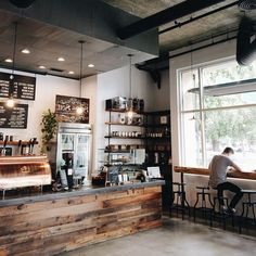 Coffeeideas coffee cafe interior, coffee shop interior design, coffee s Coffee Cafe Interior, Coffee Shop Interior Design, Coffee Shop Design, Cute Coffee Shop, Coffee Shop Interiors, Coffee Shop Bar, Industrial Coffee Shop, Cafe Industrial, Rustic Coffee Shop