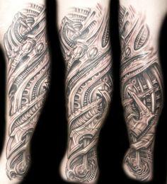 Bio-mechanical leg sleeve by Roman