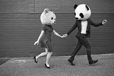 the bear and the panda  ~ cute!