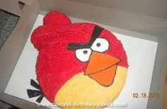 Homemade Angry Birds Birthday Cake: This Angry Birds birthday cake was my first cake that I actually decorated on my own. My mother used to make and sell cakes when I was a little girl and