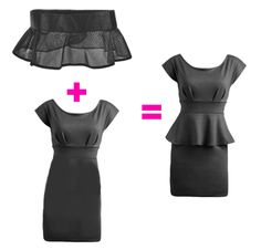DIY !  Whether you find one at the thrift store or have one in your closet, an old flared skirt can be cropped into a belt; you can also attach some ruffled trim to a belt or piece of elastic.