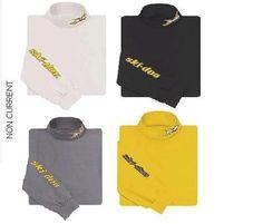 Ski Doo Mens x Team Turtleneck New White Grey Yellow Black 453565 | Ecklund Motorsports $14.99