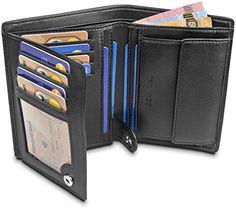 Homme Femme en cuir RFID blocking Travel Planner Wallet Purse Porte-passeport