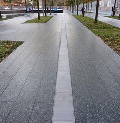 Choose from a wide variety of Gridline stainless steel backed entrance flooring with a wide variety of options for inserts and depths. Trench Drain, Outdoor Walkway, Public Spaces, Metals, Entrance, Sidewalk, Stainless Steel, Flooring, Architecture