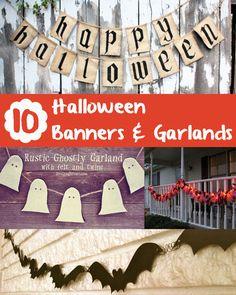 10 Halloween Garland and Banner Tutorials