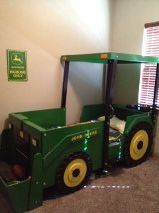 Twin Tractor Bed! Too cute! Would do a different color.