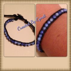 Cotton cord wrapped bracelet with button closures 4 Tailgate #diy #jewelry #bracelet #bead #blue #cotton #button (Created By Cyndi)