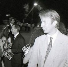 """1991 -- Alan Rickman at a premiere of """"Robin Hood - Prince of Thieves."""""""
