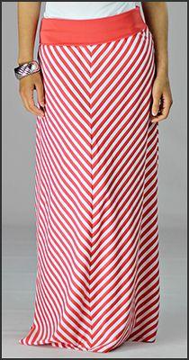Chevron Maxi Skirt. I want it. www.mikarose.com