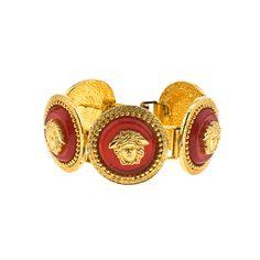GIANNI VERSACE RED/GOLD MEDUSA BRACELET
