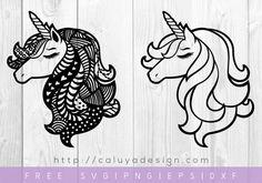 free unicorn mandala svg