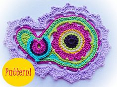 Ravelry: Paisley Crochet Pattern pattern available( by Maria Manuel )