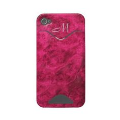 Hidden Canines in Raspberry iPhone 4 case  Pretty Raspberry Red/Pink Custom Case-Mate ID™ iPhone 4/4S Case