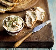 This quick and easy smoked salmon pâté recipe is served with a homemade caraway soda bread.