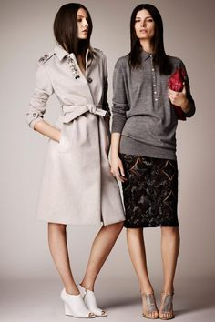 Burberry Prorsum Resort 2014 8 - The Cut. TOO CUTE! A HENLEY PAIRED WITH COUTURE!
