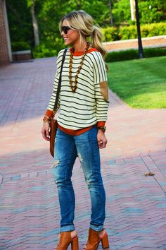 stripes and jeans - cute casual chic