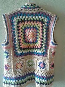 Hand Knitting Women's Sweaters - Crochet Ideas Crochet Waistcoat, Gilet Crochet, Crochet Coat, Crochet Jacket, Crochet Cardigan, Crochet Shawl, Crochet Clothes, Crochet Stitches, Crochet Patterns