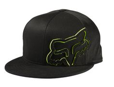 black green fox racing hat