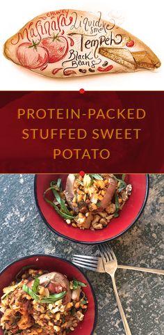 Protein-Packed Stuffed Sweet Potato - Stuffed Sweet Potato Monday