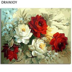 DRAWJOY Framed Pictures Painting By Numbers Painting&Calligraphy Of Flower DIY Oil Painting By Numbers Home Decor. Yesterday's price: US $10.81 (9.30 EUR). Today's price: US $6.81 (5.91 EUR). Discount: 37%.