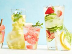 Infused with fresh fruits, vegetables and herbs, these drinks everything you never knew you a wanted in a glass of water. Thirsty yet?