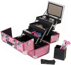 SHANY Cosmetics SHANY Premium Collection Makeup Train Case, Hot Pink Diamond by SHANY Cosmetics, http://www.amazon.com/dp/B008X20Z4I/ref=cm_sw_r_pi_dp_9T-Zqb0MGN8D0