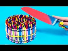 EXPERIMENT Glowing 1000 degree KNIFE VS 20 OBJECTS! Crayons Orbeez School Supplies Toys! SATISFYING - YouTube