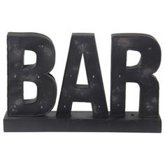 Cast a charming glow above your home bar with this delightful wall decor, featuring a typographic design and LED accents. Industrial Interiors, Industrial House, Home Bar Decor, Bar Led, Marquee Sign, Typographic Design, Bar Lighting, One Kings Lane, Joss And Main
