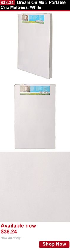 Crib Mattresses: Dream On Me 3 Portable Crib Mattress, White BUY IT NOW ONLY: $38.24