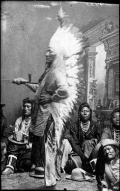Chief Washakie (c.1798-1900) was a renowned warrior first mentioned in 1840 in the written record of the American fur trapper, Osborne Russell. In 1851, at the urging of trapper Jim Bridger, Washakie led a band of Shoshones to the council meetings of the Treaty of Fort Laramie (1851). Essentially from that time until his death, he was considered the head of the Eastern Shoshones by the representatives of the United States government.