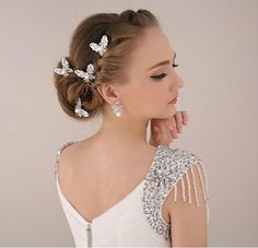 Wedding Tiara Elegant Butterfly Silver With Pearls Wholesale 2015 New Design Bridal Hair Accessories Wedding Bridal Veils From Cutie Bridal, $6.58| Dhgate.Com