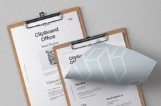 This is a modern and subtle psd clipboard mockup with a straight and folded letterhead paper to showcase your branding designs....