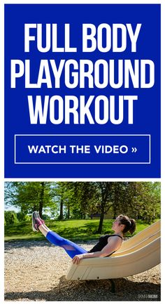 This fun workout will tone your entire body and can be at the park!