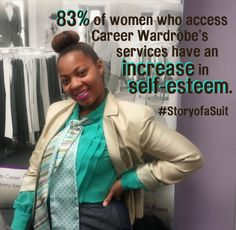 Increase self-esteem with your donation to the #JobRaising challenge here http://www.crowdrise.com/careerwardrobe-jr #StoryofaSuit