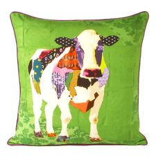 Pretty sure I think this is awesome! 18 INDIAN COLORFUL COW DIGITAL PRINT COTTON PILLOW CUSHION Ethnic Vintage Decor