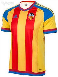 19a75cc043922 Tailandia camiseta del Valencia 2ª Equipación 2015 2016  http   www.camisetasfutbolcomprar